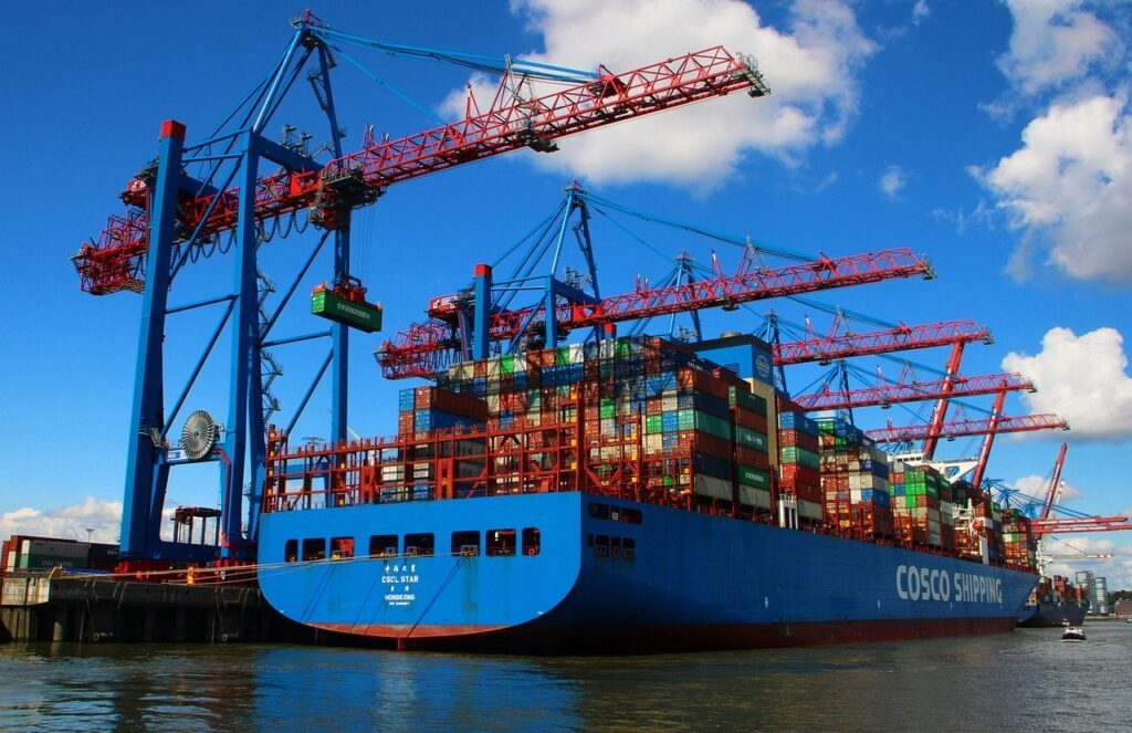 container, port, ship