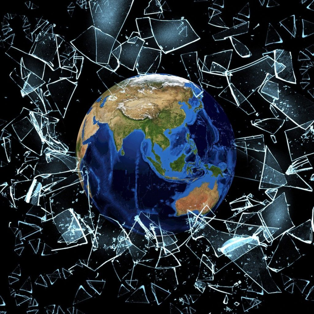 debris, shine, earth